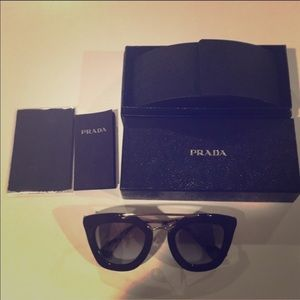 Authentic PRADA Cinema Sunglasses in brown